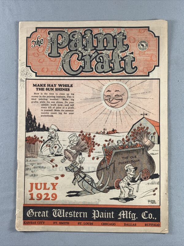 Vtg 1929 The Paint Craft Great Western Paint Mfg Co. Advertising Catalog KCMO