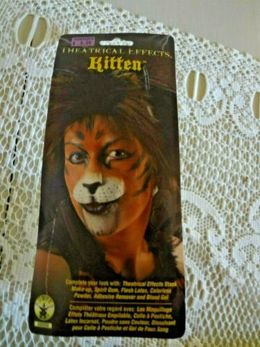 Costume Kitten Cat animal nose new package wear adhesive spirit not included