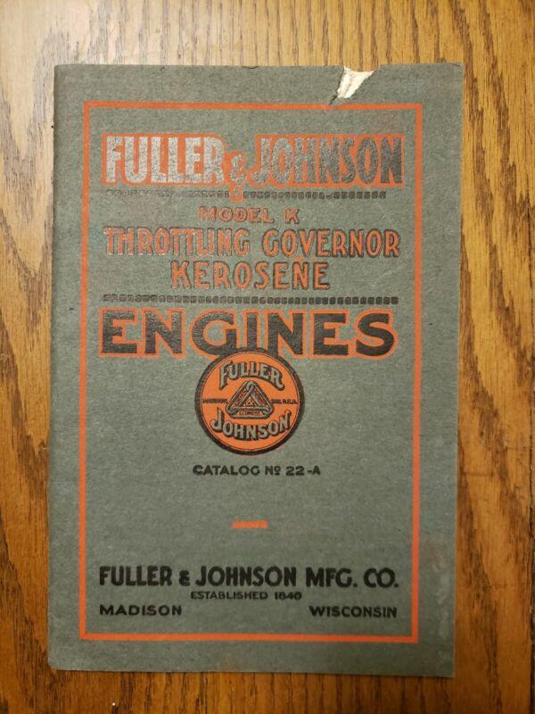 Fuller Johnson Kerosene Engines Catalog Original Madison Wisconsin