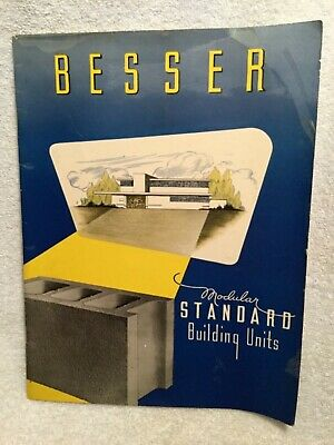 1951 Catalog Besser Modular Standard Building Units Concrete Blocks Alpena Mi