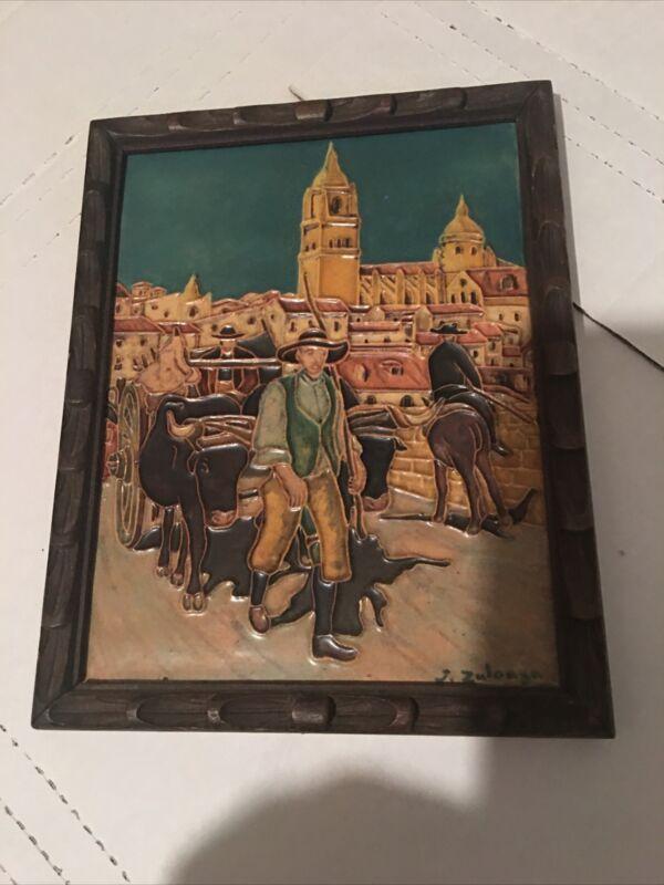 Daniel Zuloaga Tile Antique Spanish