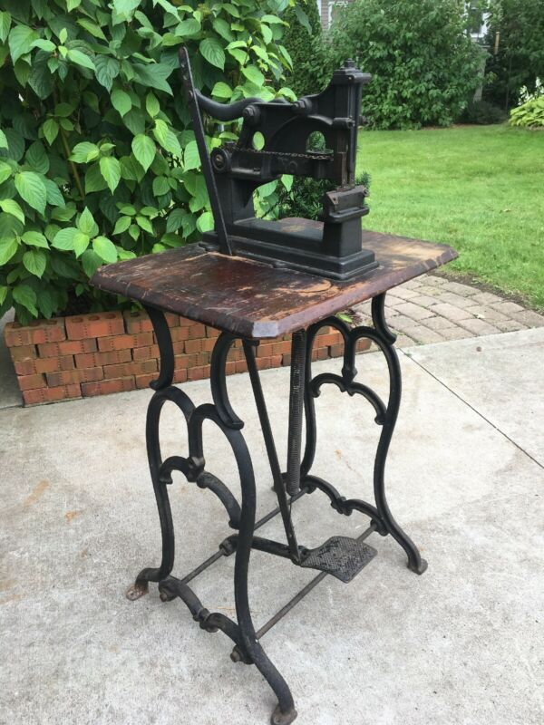 Antique Cast Iron Table Magazine Stapler Yarger Philadelphia Pennsylvania 1887