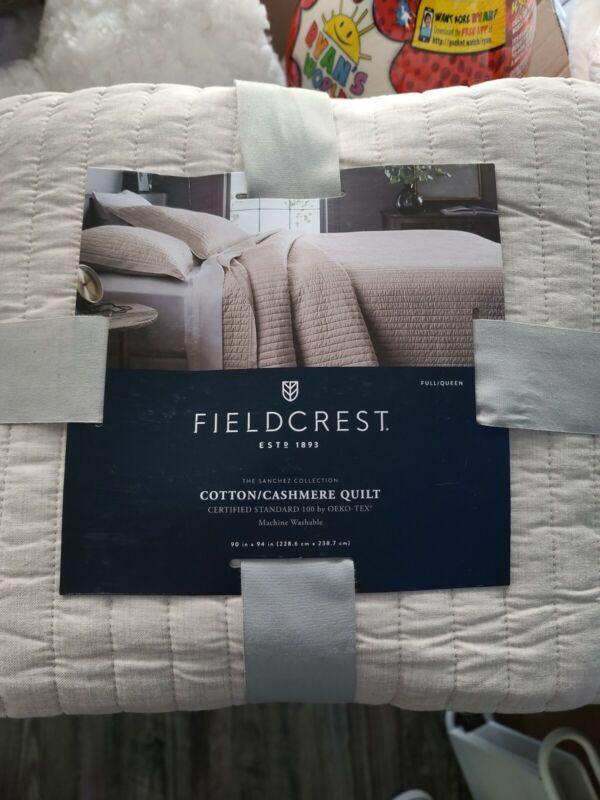 Fieldcrest Cotton/Cashmere Quilt 100% Cotton Full/Queen