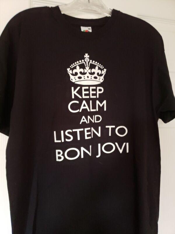 Keep Calm And Listen To Bon Jovi T-shirt Size L