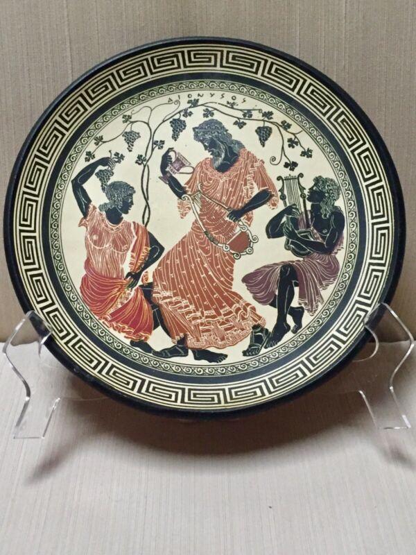 "Adis Greek Hand Made in Greece by J. Anastasiadis Terracota 9"" Wall Plate"