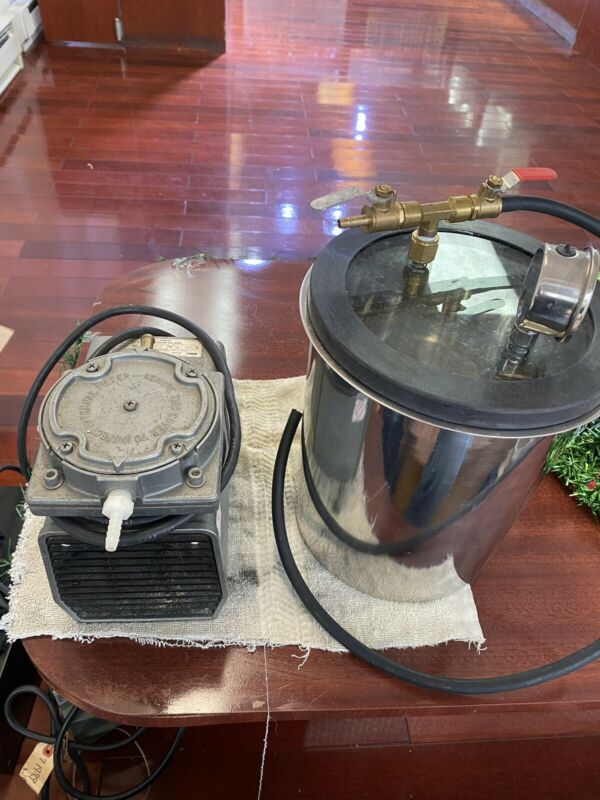 Vacuum Chamber and  Pump to Degassing Silicone Kit