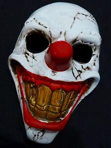 HALLOWEEN Maske Horror-CLOWN Clownmaske Gruselmaske Joker Fasching NEU