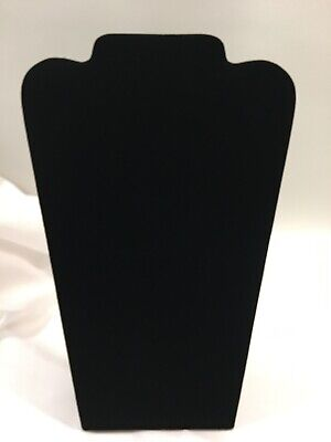 Black Velvet Paaded Neckform Easel Stand Display Stand Classy Necklace Showcase