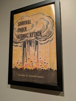 Vintage Survival Under Atomic Attack Art Poster 11 x 17 inch Fallout 4 Inspired