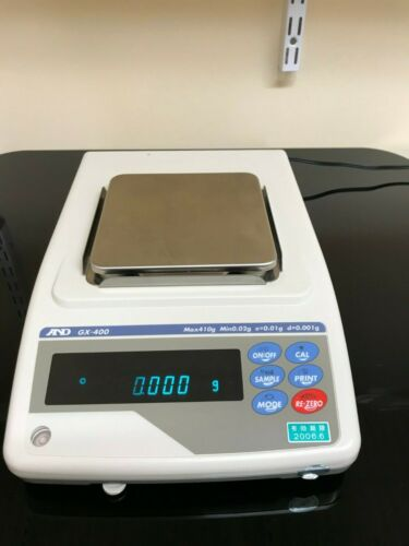 A&D GX-400 Precision Lab Balance Scale 410gX0.001g,  Internal Calibration