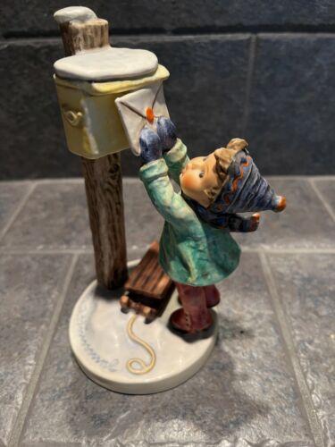 "Goebel Hummel 340 A Letter to Santa Clause Mailbox TMK6 7-1/4"" Figurine"