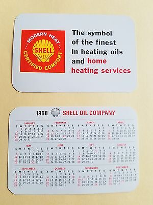 1968 Shell Gas   Oil Credit Card Calendar Heating Oil For Home Heating Services