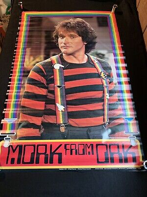 MORK FROM ORK MORK & MINDY ROBIN WILLIAMS 1979 RED POSTER Rainbow