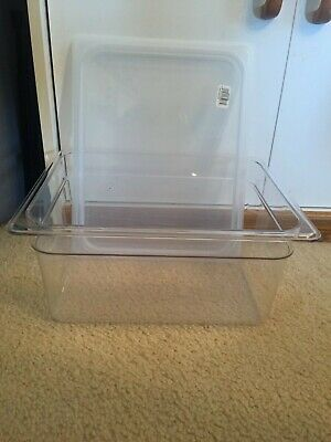 Cambro Camwear 8 Quart Food Storage Container Wmatching Lid