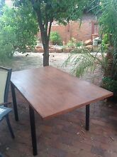 Wooden top table with tube metal legs Thornlie Gosnells Area Preview