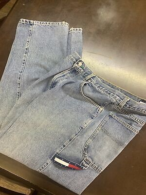 Mens 34x32 Denim Blue Jeans Tommy Hilfiger