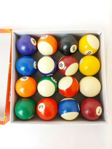 Pool Balls Full Set Spots and Stripes - Supapro Billiards. Boxed