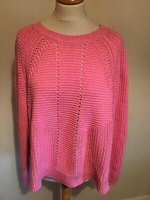 J Crew Pink Cotton/ Wool Mix Jumper XL