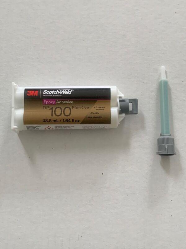 3M Scotch-Weld Epoxy Adhesive DP100 Plus Clear, 1.64 oz W/ (1) 1:1 Mixing Nozzle