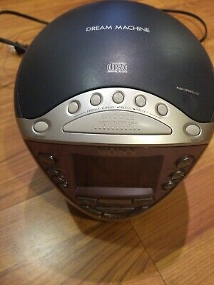 Sony Dream Machine ICF-CD843V CD/CD-R/RW Player /AM/FM/Weather Alarm Clock Radio