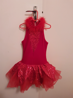 Girls Red Dance Costume