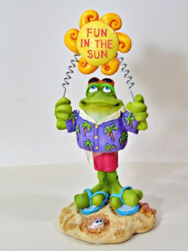 Russ Toadily Yours Fun in the Sun Frog Figurine
