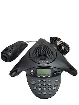 Polycom Soundstation 2 2201-16000-601 Conference Phone Refurbished Tested Works