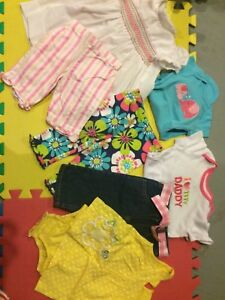 Girl's 12-18 month Summer Clothes Lot