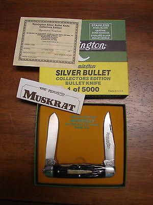 Vintage Remington Muskrat Silver Bullet R4466 SB Collectors Knife 1 of 5000 new
