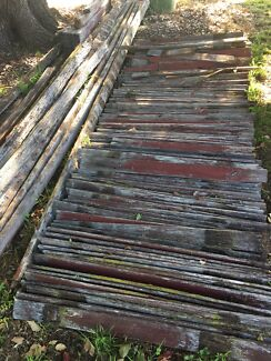 Rustic old fence timber wood firewood