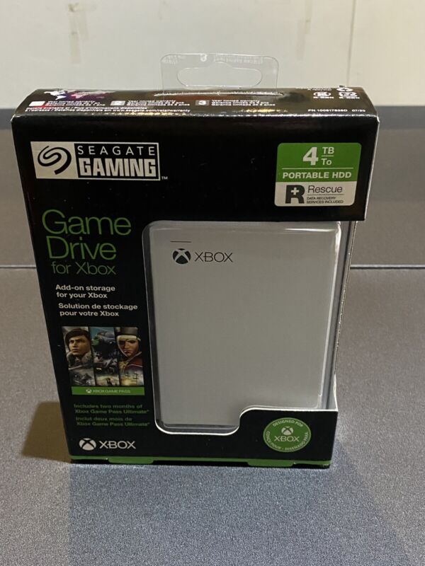 Seagate 4TB Game Drive for Xbox One White USB 3.0 Brand New!!