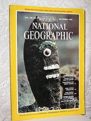 National Geographic Dec 1980 Aztecs Coal Vs Parklands Portugal Fatima Jackal