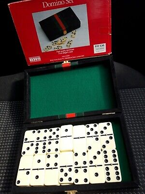 Dominoes Double Six In Elegant Case,metal Spinners,from bhs in original box