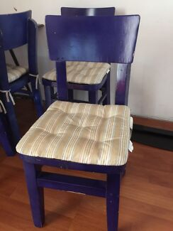 Purple wooden chairs  North Strathfield Canada Bay Area Preview