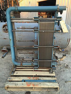 Stainless Steel Plate Heat Exchanger 101 Plates 4ft Tall