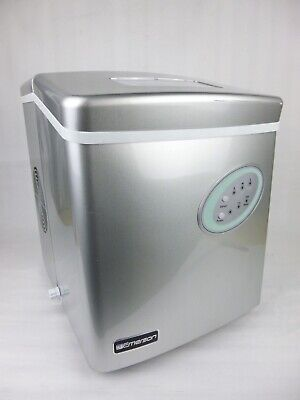 Emerson Im90t Silver Electric Portable Countertop Ice Maker Machine Household