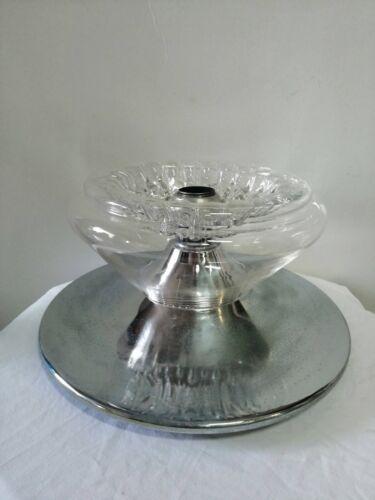Chandelier Lamp Suspension Mazzega Glass Murano Steel 1970 Space