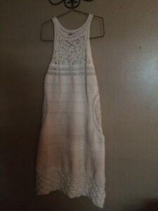 Venus white knitted dress
