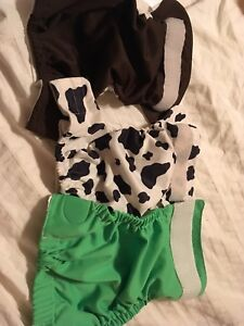 3 newborn cloth diapers (pockets and cover)