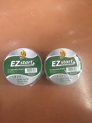 2 ROLLS CLEAR Duck EZ Start Packing Carton Shipping Duct Tape 1.88