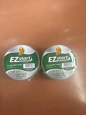 2 Rolls Clear Duck Ez Start Packing Carton Shipping Duct Tape 1.88 X 54.6 Yards