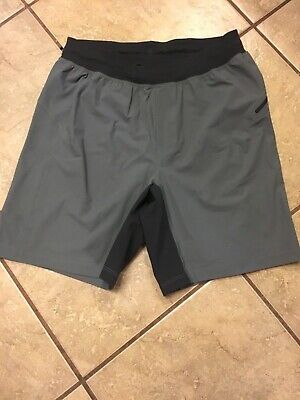 Euc Lululemon Men's m medium sage? light olive Green linerless core shorts. 8""