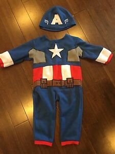 Captain America costume size 2-4 (for 1-2 years)