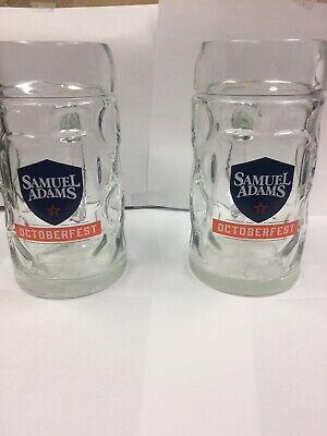 2 Samuel Sam Adams Beer Octoberfest Fest Best Mug Glass Steins 0.5L (Best Sam Adams Beer)