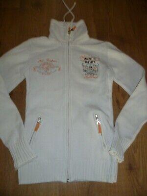 Fleecejacke Stehkragen Top (schöne Damen Jacke mit Stehkragen Strickjacke Fleecejacke Gr. M (S) SOCCX TOP)