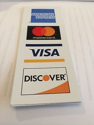 Credit Card Logo Decal Sticker   Visa  Mastercard  Discover And American Express