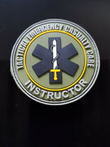 Tactical Emergency Casualty Care Instructor (TECC) PVC Patch 3 inch