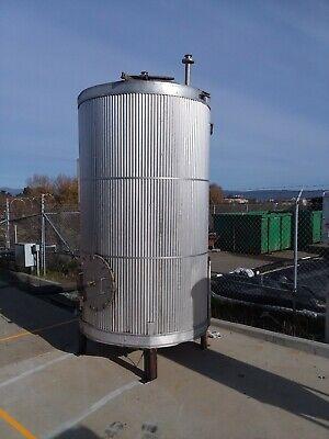 1500 Gallon 304 Stainless Steel Cone Bottom Tank Winsulation Aluminum Jacket