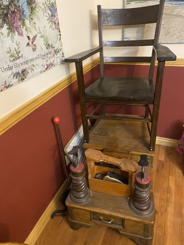 Antique Shoe Shine Chair