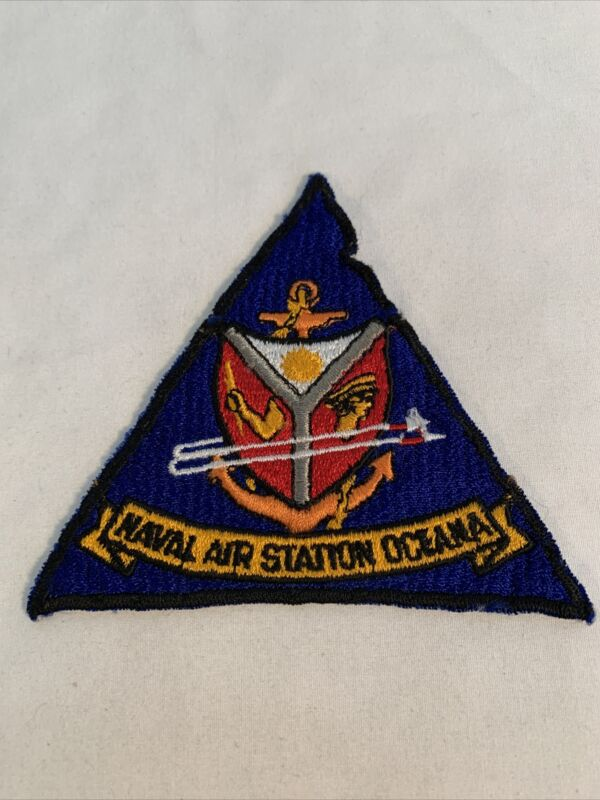 US Navy Vintage Naval Air Station NAS Oceana Command Patch